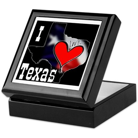 I Love Texas Keepsake Box
