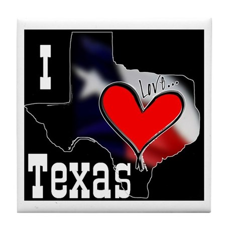 I Love Texas Tile Coaster