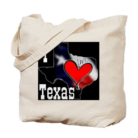 I Love Texas Tote Bag