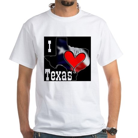 I Love Texas White T-Shirt
