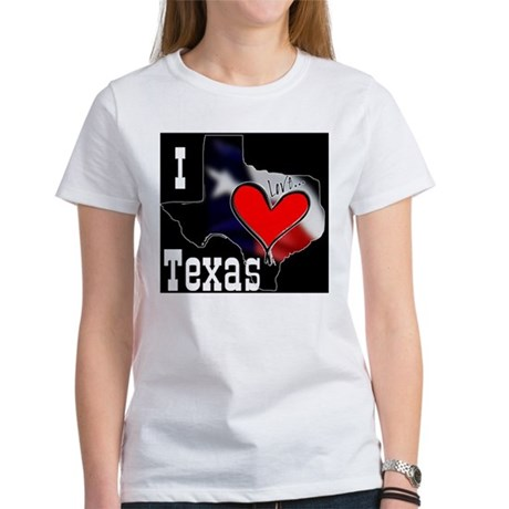 I Love Texas Women's T-Shirt