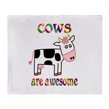 Awesome Cows Throw Blanket