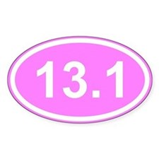 Pink 13.1 Half Marathon Decal