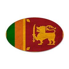 Sri Lanka Flag 22x14 Oval Wall Peel