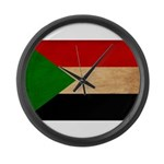 Sudan Flag Large Wall Clock