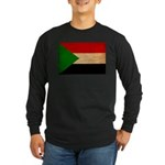 Sudan Flag Long Sleeve Dark T-Shirt