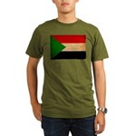 Sudan Flag Organic Men's T-Shirt (dark)