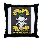 DEA Jungle Ops Throw Pillow