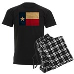 Texas Flag Men's Dark Pajamas