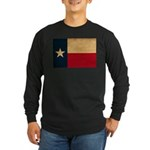 Texas Flag Long Sleeve Dark T-Shirt