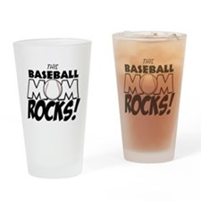 This Baseball Mom Rocks Drinking Glass