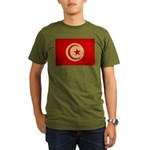 Tunisia Flag Organic Men's T-Shirt (dark)