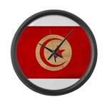 Tunisia Flag Large Wall Clock