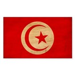 Tunisia Flag Sticker (Rectangle 50 pk)