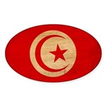 Tunisia Flag Sticker (Oval 50 pk)