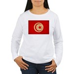 Tunisia Flag Women's Long Sleeve T-Shirt