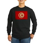 Tunisia Flag Long Sleeve Dark T-Shirt