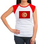 Tunisia Flag Women's Cap Sleeve T-Shirt
