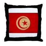 Tunisia Flag Throw Pillow