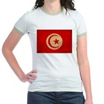 Tunisia Flag Jr. Ringer T-Shirt