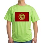 Tunisia Flag Green T-Shirt