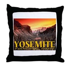 Yosemite National Park Throw Pillow