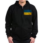 Ukraine Flag Zip Hoodie (dark)