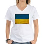Ukraine Flag Women's V-Neck T-Shirt