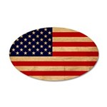 United States Flag 38.5 x 24.5 Oval Wall Peel