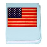 United States Flag baby blanket