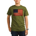 United States Flag Organic Men's T-Shirt (dark)