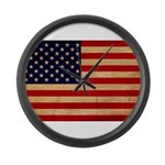 United States Flag Large Wall Clock