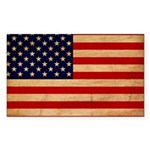 United States Flag Sticker (Rectangle 50 pk)