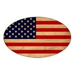 United States Flag Sticker (Oval 50 pk)