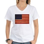 United States Flag Women's V-Neck T-Shirt