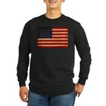 United States Flag Long Sleeve Dark T-Shirt