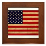 United States Flag Framed Tile