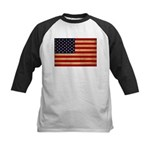 United States Flag Kids Baseball Jersey