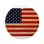 United States Flag Ornament (Round)