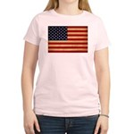United States Flag Women's Light T-Shirt