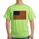 United States Flag Green T-Shirt