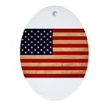 United States Flag Ornament (Oval)
