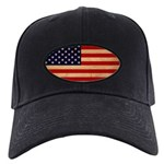 United States Flag Black Cap
