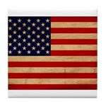 United States Flag Tile Coaster