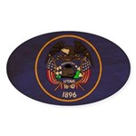 Utah Flag Sticker (Oval 10 pk)