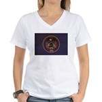 Utah Flag Women's V-Neck T-Shirt