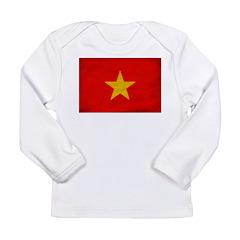 Vietnam Flag Long Sleeve Infant T-Shirt