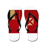 Wallis and Futuna Flag Flip Flops