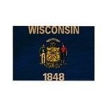 Wisconsin Flag Rectangle Magnet (100 pack)