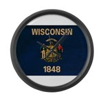 Wisconsin Flag Large Wall Clock